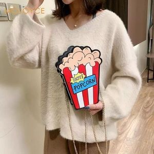 Handbags - Women's 3D Popcorn Crossbody Bag
